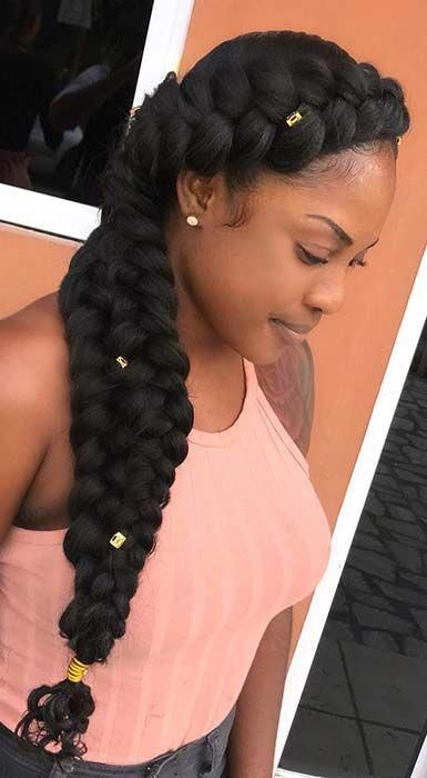 Amazing Prom Hairstyles For Black Girls Promhairstylesforblackgirls Natural Hair Styles Braided Hairstyles Box Braids Hairstyles
