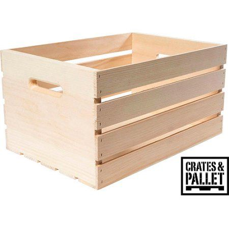 Crates and Pallet Large Wood Crate, Beige