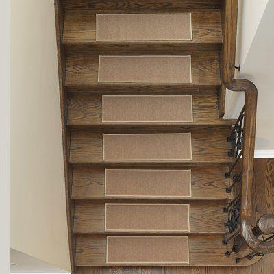 Tucker Murphy Pet Jerez Dark Beige Stair Tread Wayfair Carpet Stair Treads Carpet Stairs Diy Carpet