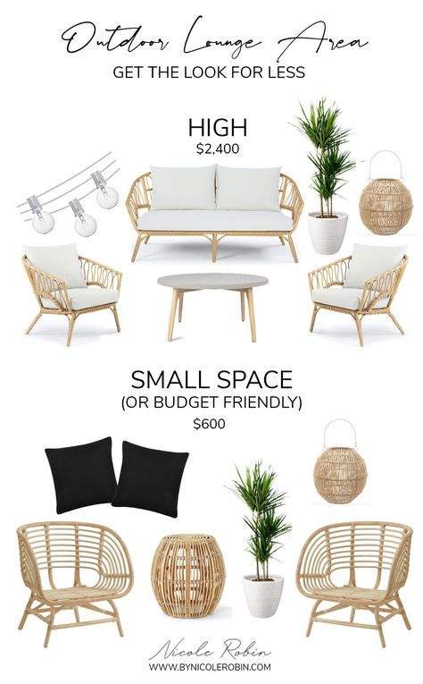 Outdoor Lounge Area: Get The Look For Less