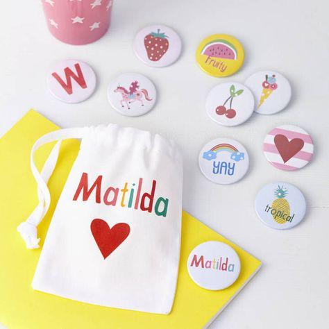 Tillie Mint Girls Personalised Badges Or Magnets