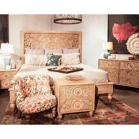 Shop Haveli Solid Mango Wood King Bed - On Sale - Free Shipping Today - Overstock - 12853890