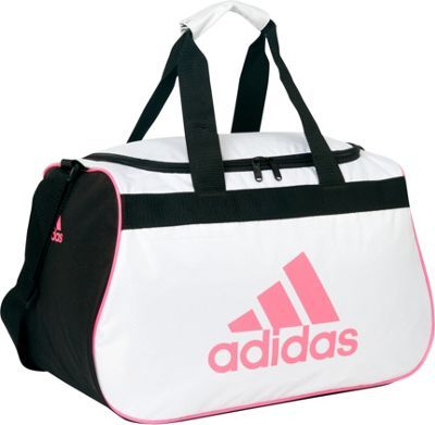NWT ADIDAS Diablo Small II Duffel Bag Oblivion White Black Sport Gym Bag  Travel  f2ab3e16caed9