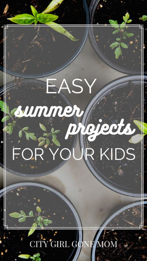 Easy summer projects to do with your kids!