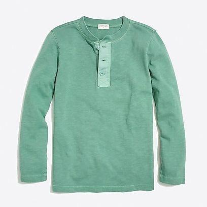 36fd0db5bf2 factory boys Boys  long-sleeve garment-dyed henley
