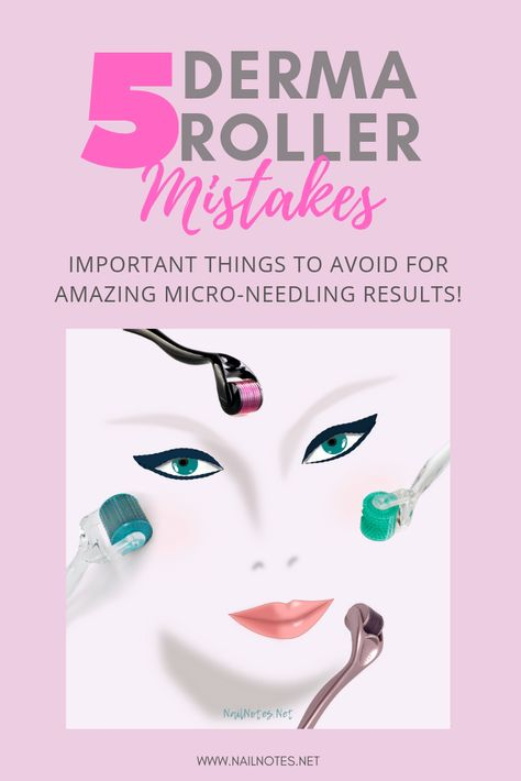 Micro-Needling Mistakes - Skin Care World Derma Roller Results, Derma Roller At Home, Skin Roller, Face Roller, Micro Needle Roller, Micro Roller, Home Beauty Tips, Skin Care Tools, Healthy Skin Care