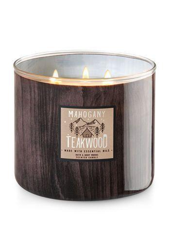 White Barn Mahogany Teakwood 3 Wick Candles Bath And Body