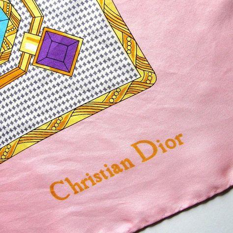 9a9082e18ad Vintage foulard - Christian Dior - foulard en soie