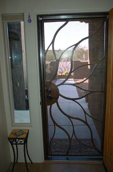 Screen Doors   Front screen door lock matches main door.