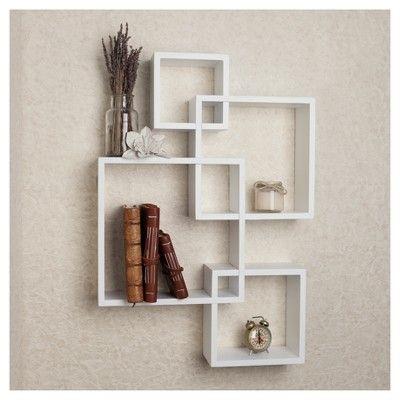 Intersecting Cube Shelves White Danya B Cube Shelves Wall