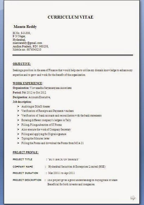 easy resume template Sample Template Example ofExcellent - resume or cv format