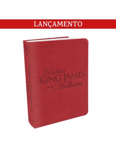 Biblia King James Para Mulheres Capa Luxo Vermelha Biblia King