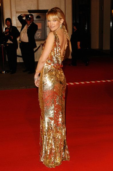 Kate In Backless Gold At the BAFTAs, 2008 - Kate Hudson's Most Daring Red Carpet Dresses - Photos