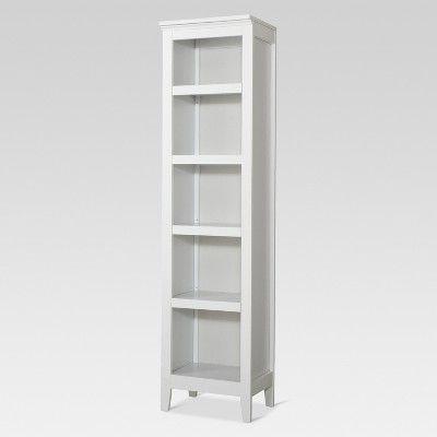 Carson 72 2 Narrow 5 Shelf Bookcase White Threshold White Bookcase 5 Shelf Bookcase Narrow Bookshelf