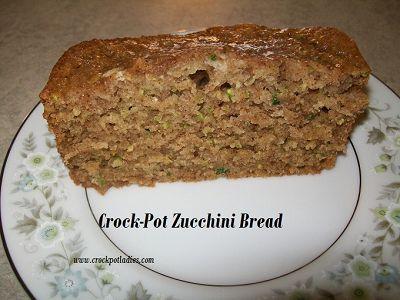 Crock-Pot Zucchini Bread - CrockPotLadies.com