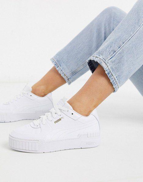 Puma Cali Sport Chunky Sneakers In White in 2020 | Puma cali ...