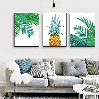 Amazon Com Pineapple Art Posters Prints Wall Art Home Kitchen Wall Art Prints Pineapple Art House Warming Gifts
