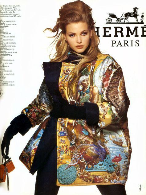 Nadja Auermann for Hermes'