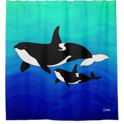 Orcas Shower Curtain Zazzle Com In 2019 Stuff Diy Curtains