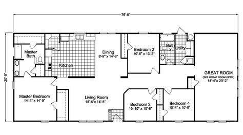 Floor Plan Party House Hlr476j4 House Plans House Party Floor Plans