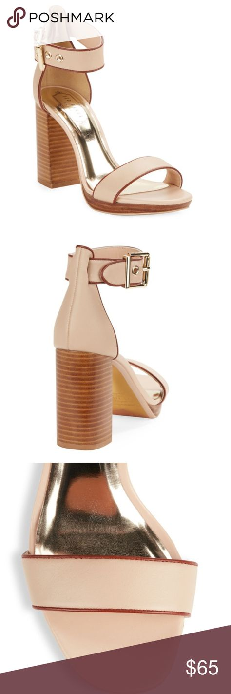 a3ee84a86c45 Ted baker lorno block heel sandal Ted baker lorno block heel sandal - never  worn!!! Cream leather upper with rose gold ted baker branded buckle  detailing ...