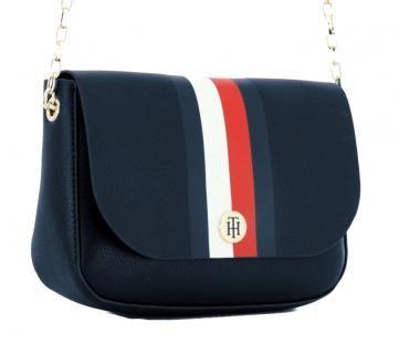Crossover Tasche Tommy Hilfiger Dunkelblau Corporate Stripes Bags More Taschen Unterarmtasche Schultertasche