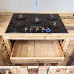 Fabriquer Des Meubles De Cuisine Avec Des Palettes En Bois Meuble Cuisine Bois Meuble Cuisine Meuble Rangement Cuisine
