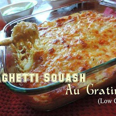Spaghetti Squash Au Gratin @keyingredient #cheese #cheddar #casserole