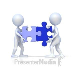 Id 2127 Two 3d Figures Solve Puzzle Presentation Clipart Animated Clipart Sculpture Lessons Clip Art