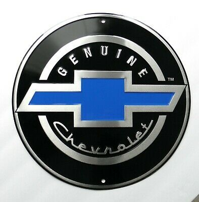 Genuine Chevrolet Gmc Automobile Car Embossed Metal Sign 12 Inches Chevrolet Emblem Chevy Chevy Trucks