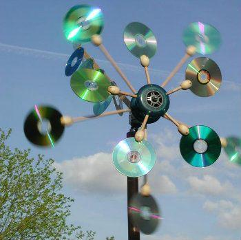 Arte com cds velhos