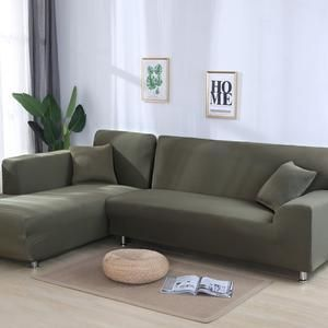 Grey Color Tight Wrap Sofa Cover Elastic Needs Order 2 Pieces Sofa Cov Shopeersworld In 2020 Corner Sofa Covers Couch Covers Sofa Covers