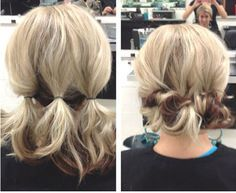 Short Hair Updos How To Style Bobs Lobs Tutorials