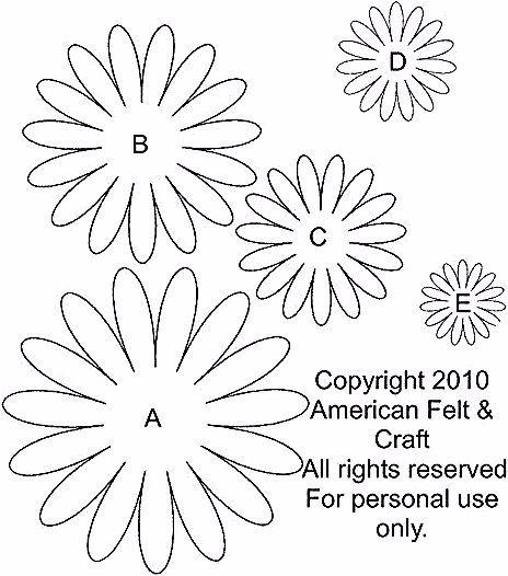Gerbera Daisy Template And Tutorial In 2020 Felt Flower Template Flower Template Felt Flowers Patterns