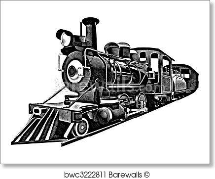American Express Engraving Train Art Train Clipart Posters Art Prints