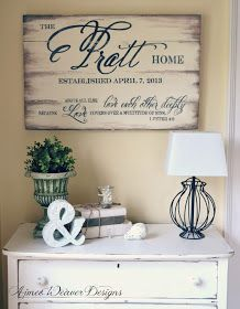 Beautiful signs for home and for weddings or other events