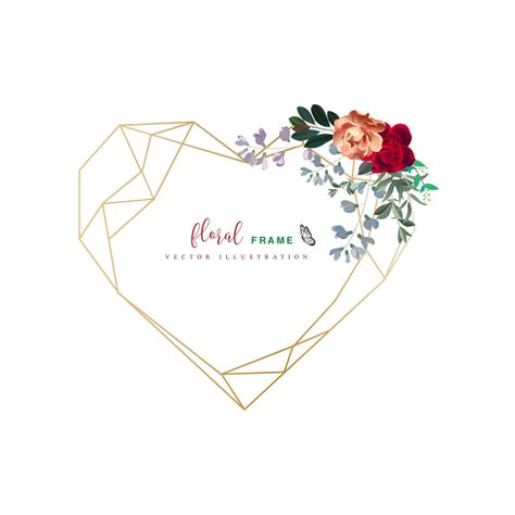 24+ Gold heart border clipart ideas