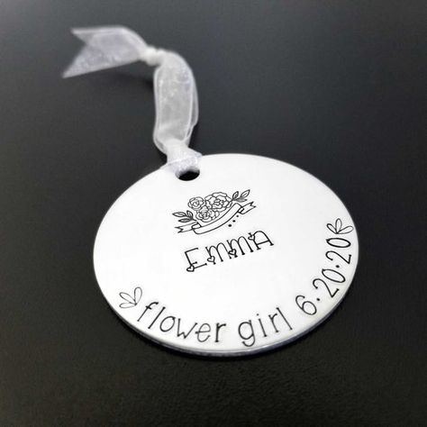 BRIDESMAID FLOWER GIRL GIFT THANK YOU WEDDING KEEPSAKE BRACELET PERSONALISED
