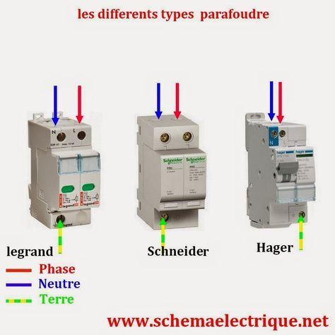 Schema Cablage Branchement Parafoudre Installation Electrique Maison Schema Electrique Plan Electrique Maison