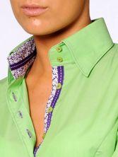 Chemisier Femme Anis Doublure Fleurs & Couture Violettes