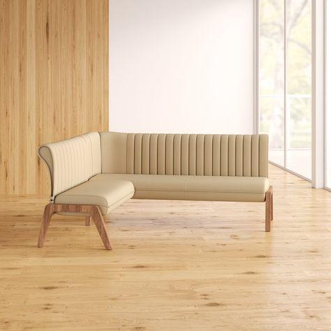 Kaysen Upholstered Corner Bench Upholstered Dining Bench Corner
