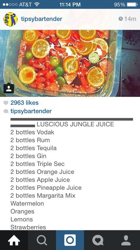 Luscious jungle juice