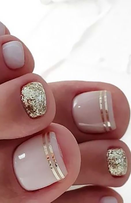 20 Trendy Winter Nail Colors & Design Ideas for 2019 - TheTrendSpotter - ? : 20 Trendy Winter Nail Colors & Design Ideas for 2019 - TheTrendSpotter - ? Beach Toe Nails, Gel Toe Nails, Pink Toe Nails, Simple Toe Nails, Pretty Toe Nails, Toe Nail Color, Cute Toe Nails, Nail Colors, Nail Pink