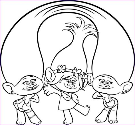 Trolls Coloring Sheets Trolls Movie Coloring Pages Best Coloring