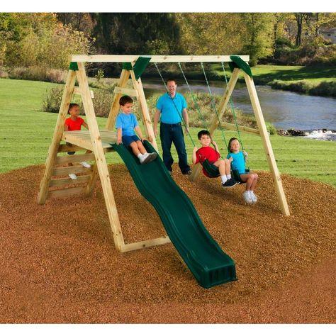 N Slide Playsets Pine Bluff Swing Set