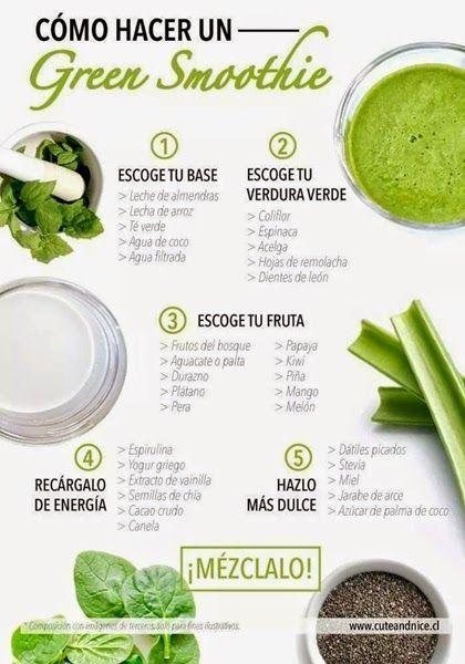 smoothie verde para cenar
