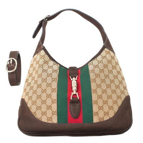 c88f2acf0 Gucci Jackie Medium Shoulder Bag Brown Beige Cocoa Handbag Bag Italy New |  Clothing, Shoes & Accessories, Women's Handbags & Bags, Handbags & Purses |  eBay!