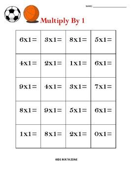 Multiplication Practice Sports Multiply 1 9 Worksheets By Kids Math Zone Multiplication Practice Kids Math Worksheets Math For Kids