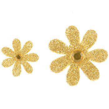 Gold Glitter Rhinestone Paper Flower Embellishments In 2019