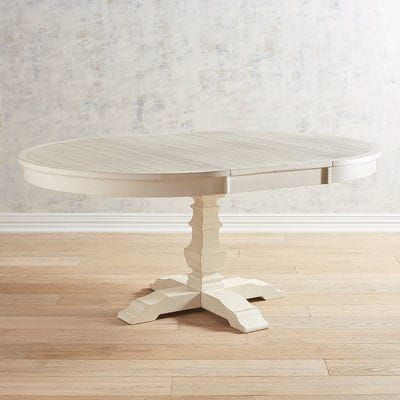 Bradding Rain White Round Extension Dining Table Extension